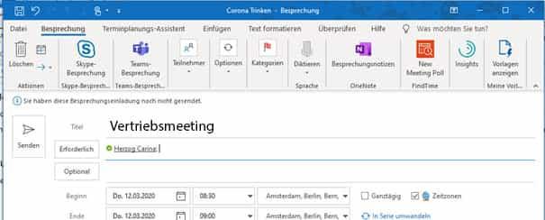 Wie man ein Meeting in Microsoft Teams organisiert