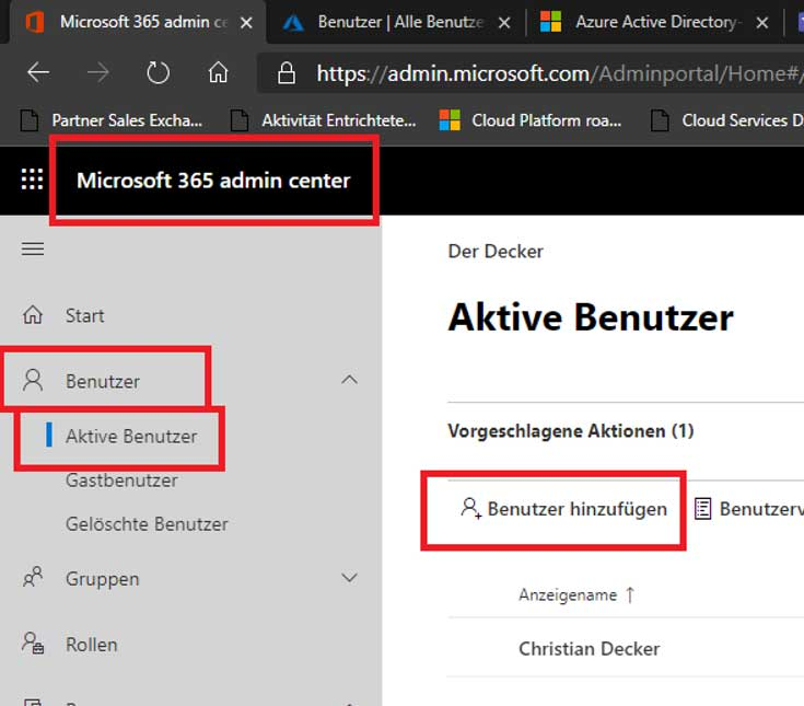 Das Microsoft 365 Admin Center