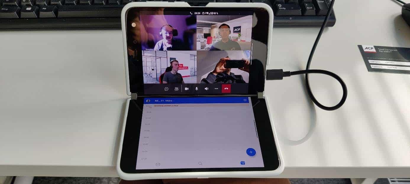 Arbeiten mit dem Microsoft Surface Duo