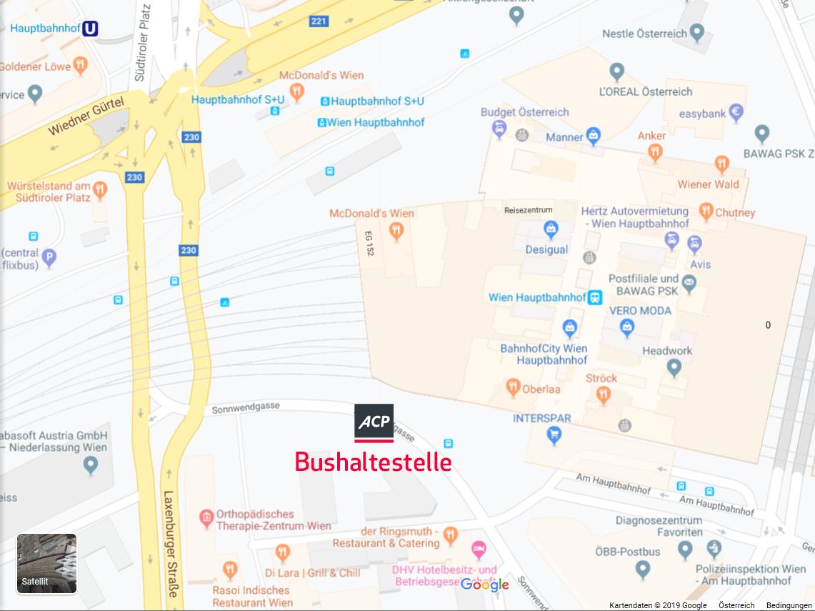 Karte Bushaltestelle