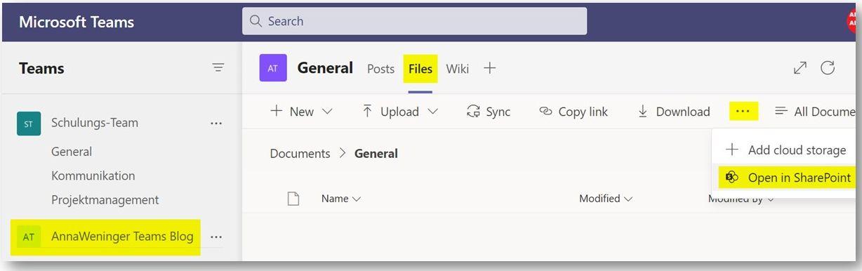 SharePoint-Seite öffnen