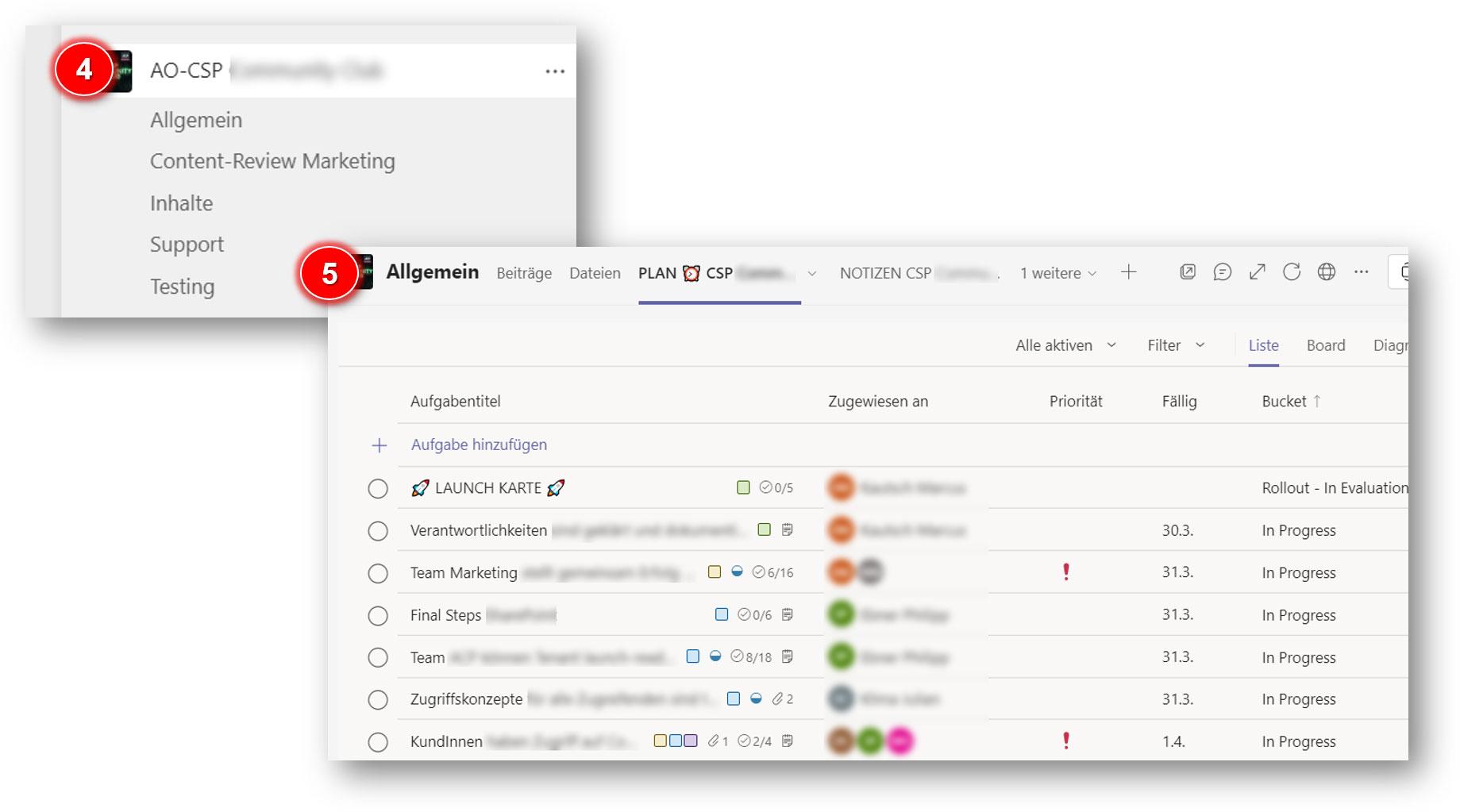 Projektmanagement leicht gemacht mit Team, Channel und Tab in MS Teams